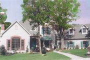 European Style House Plan - 4 Beds 5.5 Baths 4141 Sq/Ft Plan #52-157 Exterior - Front Elevation