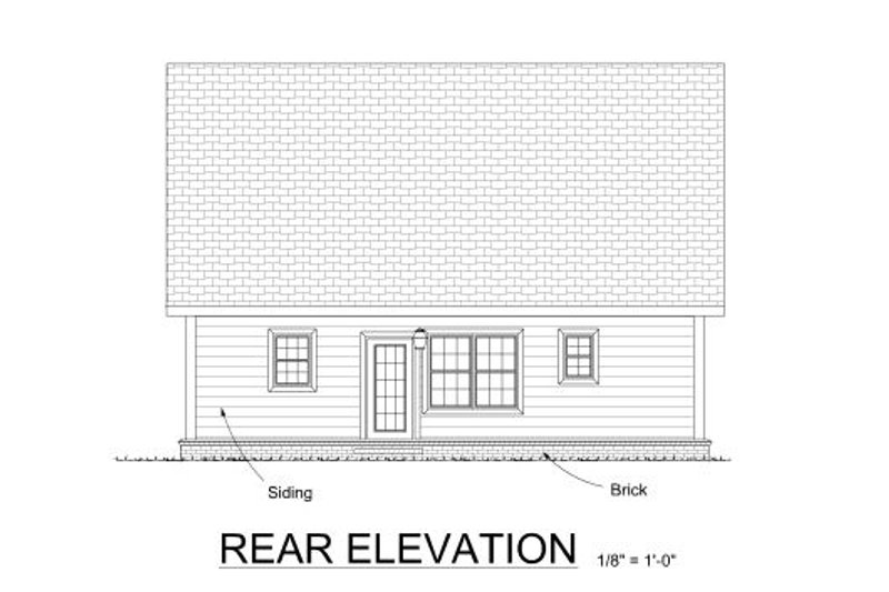 Cottage Exterior - Rear Elevation Plan #513-4 - Houseplans.com