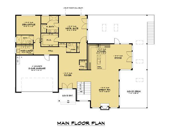 Dream House Plan - Contemporary Floor Plan - Main Floor Plan #1066-123