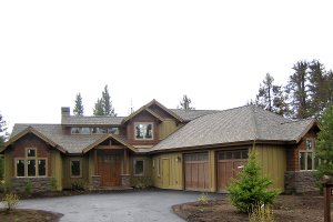 Craftsman style home design, elevation photo