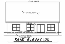House Plan Design - Farmhouse Exterior - Rear Elevation Plan #20-2411