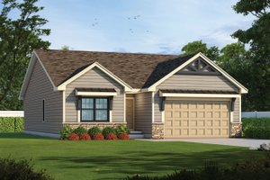 Dream House Plan - Craftsman Exterior - Front Elevation Plan #20-2405