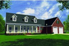 Dream House Plan - Farmhouse Exterior - Front Elevation Plan #21-132