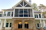 Craftsman Style House Plan - 4 Beds 4 Baths 3869 Sq/Ft Plan #437-104 Exterior - Rear Elevation