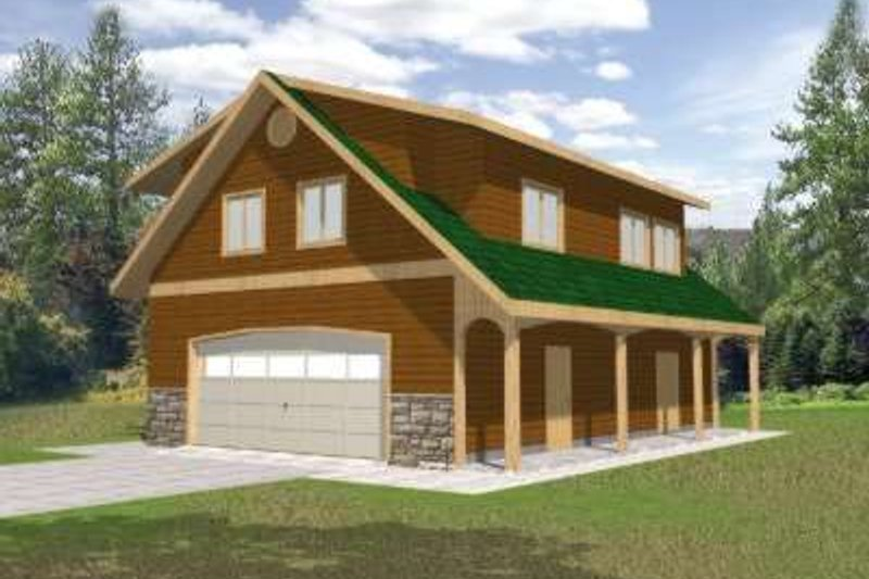 Architectural House Design - Country Exterior - Front Elevation Plan #117-479