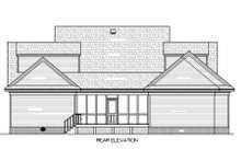 Country Exterior - Rear Elevation Plan #45-353