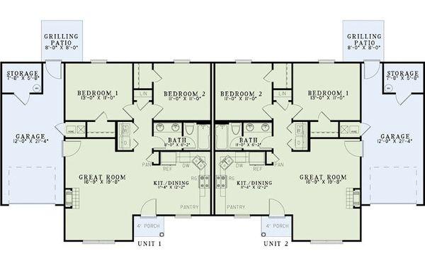 Traditional Floor Plan - Main Floor Plan #17-2430