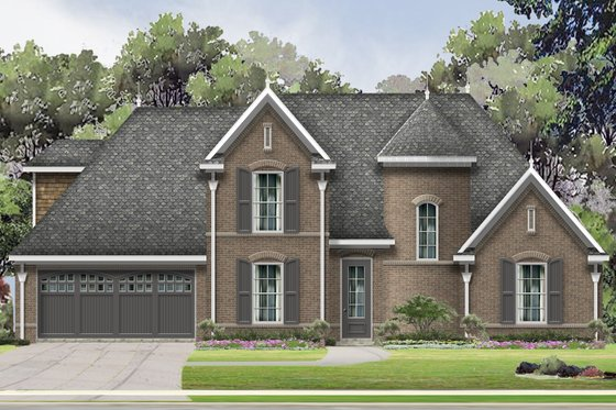 Traditional Exterior - Front Elevation Plan #424-414