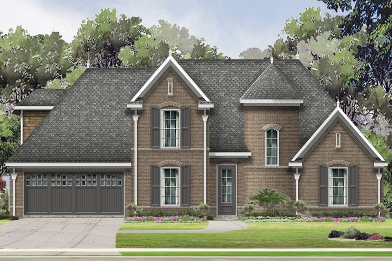 Traditional Style House Plan - 3 Beds 2.5 Baths 2550 Sq/Ft Plan #424-414