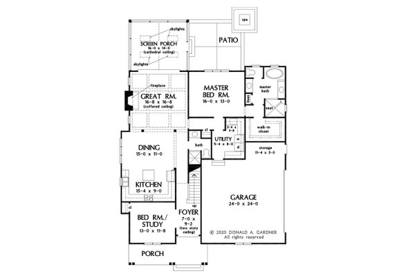 Home Plan - Farmhouse Floor Plan - Main Floor Plan #929-1135